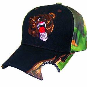 CAMO BEAR ATTACK BITE HAT